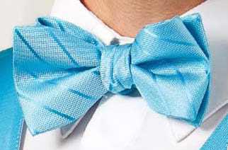 Thin Stripe Bow Tie