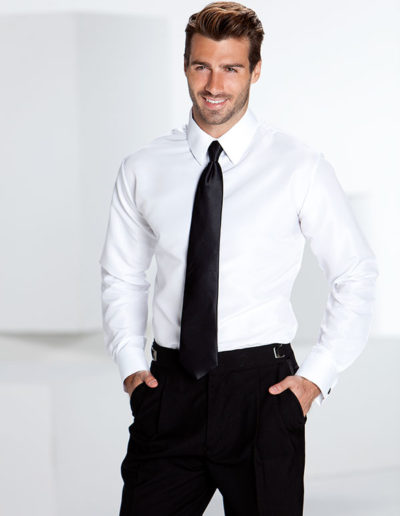 Vince-Fitted-white-plain-front-long-tie